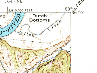 Reduced fragment of topographic map en--usgs--024k--008438--(1940)--N036-00-00_W083-22-30--N035-52-30_W083-15-00