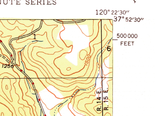 Reduced fragment of topographic map en--usgs--024k--008594--(1948)--N037-52-30_W120-30-00--N037-45-00_W120-22-30