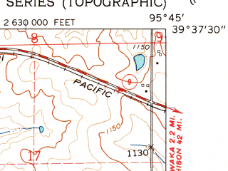 Reduced fragment of topographic map en--usgs--024k--008803--(1961)--N039-37-30_W095-52-30--N039-30-00_W095-45-00; towns and cities Circleville