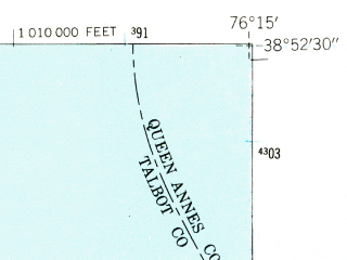 Reduced fragment of topographic map en--usgs--024k--008840--(1942)--N038-52-30_W076-22-30--N038-45-00_W076-15-00