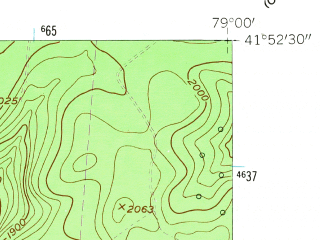 Reduced fragment of topographic map en--usgs--024k--008882--(1954)--N041-52-30_W079-07-30--N041-45-00_W079-00-00; towns and cities Clarendon