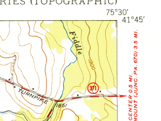 Reduced fragment of topographic map en--usgs--024k--009159--(1949)--N041-45-00_W075-37-30--N041-37-30_W075-30-00