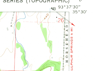 Reduced fragment of topographic map en--usgs--024k--009326--(1961)--N035-30-00_W093-45-00--N035-22-30_W093-37-30; towns and cities Coal Hill