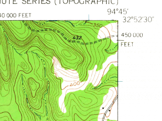 Reduced fragment of topographic map en--usgs--024k--009445--(1960)--N032-52-30_W094-52-30--N032-45-00_W094-45-00