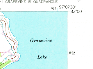 Reduced fragment of topographic map en--usgs--024k--009587--(1959)--N033-00-00_W097-15-00--N032-52-30_W097-07-30; towns and cities Colleyville, Keller, Southlake, Westlake