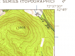 Reduced fragment of topographic map en--usgs--024k--009658--(1945)--N042-45-00_W072-45-00--N042-37-30_W072-37-30