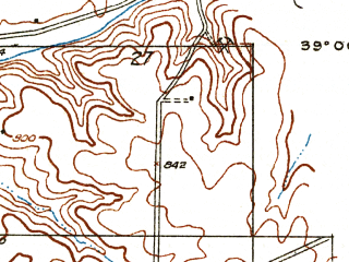 Reduced fragment of topographic map en--usgs--024k--009681--(1935)--N039-00-00_W092-22-30--N038-52-30_W092-15-00; towns and cities Columbia