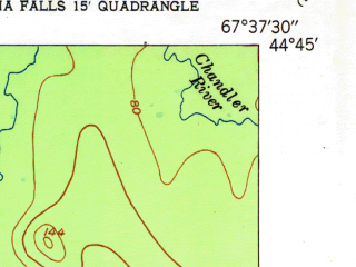 Reduced fragment of topographic map en--usgs--024k--009687--(1951)--N044-45-00_W067-45-00--N044-37-30_W067-37-30