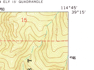 Reduced fragment of topographic map en--usgs--024k--009759--(1958)--N039-15-00_W114-52-30--N039-07-30_W114-45-00