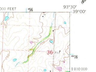 Reduced fragment of topographic map en--usgs--024k--009822--(1962)--N039-00-00_W093-37-30--N038-52-30_W093-30-00; towns and cities Concordia