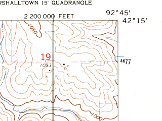 Reduced fragment of topographic map en--usgs--024k--009890--(1960)--N042-15-00_W092-52-30--N042-07-30_W092-45-00; towns and cities Beaman, Conrad