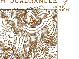 Reduced fragment of topographic map en--usgs--024k--010104--(1935)--N043-15-00_W073-52-30--N043-07-30_W073-45-00; towns and cities Corinth
