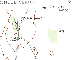Reduced fragment of topographic map en--usgs--024k--010169--(1943)--N044-00-00_W073-15-00--N043-52-30_W073-07-30