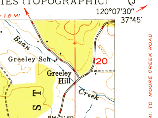 Reduced fragment of topographic map en--usgs--024k--010343--(1949)--N037-45-00_W120-15-00--N037-37-30_W120-07-30