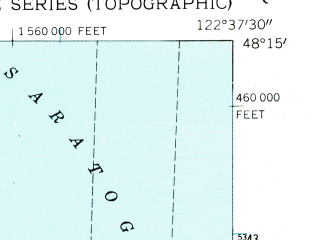 Reduced fragment of topographic map en--usgs--024k--010363--(1953)--N048-15-00_W122-45-00--N048-07-30_W122-37-30; towns and cities Coupeville
