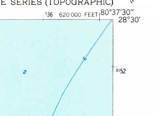 Reduced fragment of topographic map en--usgs--024k--010365--(1949)--N028-30-00_W080-45-00--N028-22-30_W080-37-30; towns and cities Cocoa