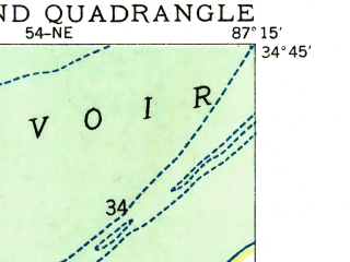 Reduced fragment of topographic map en--usgs--024k--010376--(1936)--N034-45-00_W087-22-30--N034-37-30_W087-15-00; towns and cities Courtland, North Courtland