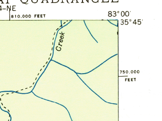 Reduced fragment of topographic map en--usgs--024k--010387--(1936)--N035-45-00_W083-07-30--N035-37-30_W083-00-00