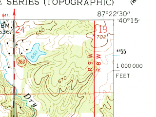 Reduced fragment of topographic map en--usgs--024k--010398--(1958)--N040-15-00_W087-30-00--N040-07-30_W087-22-30; towns and cities Covington
