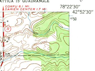 Reduced fragment of topographic map en--usgs--024k--010466--(1949)--N042-52-30_W078-30-00--N042-45-00_W078-22-30