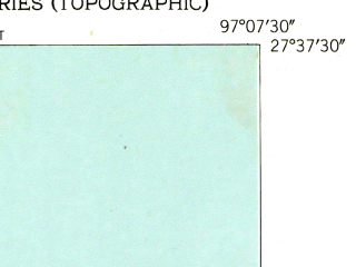 Reduced fragment of topographic map en--usgs--024k--010582--(1951)--N027-37-30_W097-15-00--N027-30-00_W097-07-30