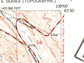 Reduced fragment of topographic map en--usgs--024k--010876--(1952)--N043-30-00_W109-07-30--N043-22-30_W109-00-00