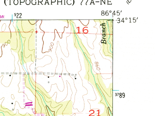 Reduced fragment of topographic map en--usgs--024k--010992--(1957)--N034-15-00_W086-52-30--N034-07-30_W086-45-00; towns and cities Cullman, South Vinemont