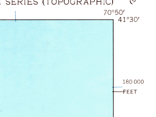 Reduced fragment of topographic map en--usgs--024k--011129--(1951)--N041-30-00_W070-57-30--N041-22-30_W070-49-60
