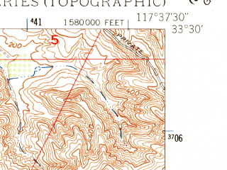 Reduced fragment of topographic map en--usgs--024k--011284--(1948)--N033-30-00_W117-45-00--N033-22-30_W117-37-30; towns and cities Dana Point