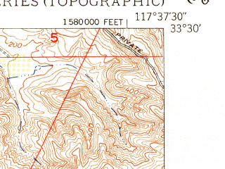 Reduced fragment of topographic map en--usgs--024k--011284--(1949)--N033-30-00_W117-45-00--N033-22-30_W117-37-30; towns and cities Dana Point