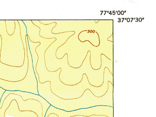 Reduced fragment of topographic map en--usgs--024k--011338--(1949)--N036-37-30_W079-30-00--N036-30-00_W079-22-30; towns and cities Danville