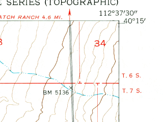 Reduced fragment of topographic map en--usgs--024k--011439--(1955)--N040-15-00_W112-45-00--N040-07-30_W112-37-30