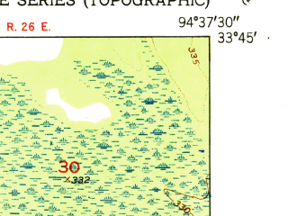 Reduced fragment of topographic map en--usgs--024k--011532--(1951)--N033-45-00_W094-45-00--N033-37-30_W094-37-30