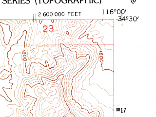 Reduced fragment of topographic map en--usgs--024k--011605--(1955)--N034-30-00_W116-07-30--N034-22-30_W116-00-00