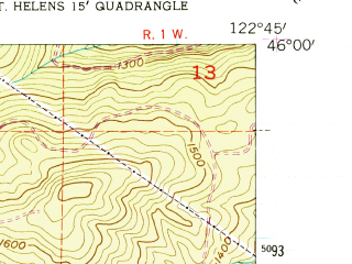 Reduced fragment of topographic map en--usgs--024k--011736--(1954)--N046-00-00_W122-52-30--N045-52-30_W122-45-00; towns and cities Columbia City