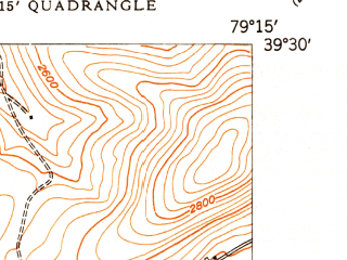 Reduced fragment of topographic map en--usgs--024k--011755--(1949)--N039-30-00_W079-22-30--N039-22-30_W079-15-00; towns and cities Deer Park, Loch Lynn Heights
