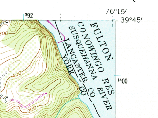 Reduced fragment of topographic map en--usgs--024k--011900--(1956)--N039-45-00_W076-22-30--N039-37-30_W076-15-00; towns and cities Delta