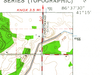 Reduced fragment of topographic map en--usgs--024k--011932--(1962)--N041-15-00_W086-45-00--N041-07-30_W086-37-30
