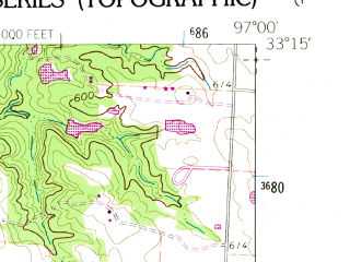 Reduced fragment of topographic map en--usgs--024k--011976--(1960)--N033-15-00_W097-07-30--N033-07-30_W097-00-00; towns and cities Corinth, Lake Dallas, Shady Shores