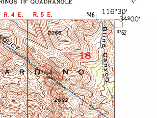 Reduced fragment of topographic map en--usgs--024k--012044--(1955)--N034-00-00_W116-37-30--N033-52-30_W116-30-00; towns and cities Desert Hot Springs