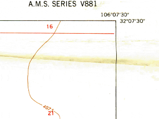 Reduced fragment of topographic map en--usgs--024k--012055--(1948)--N032-07-30_W106-15-00--N032-00-00_W106-07-30