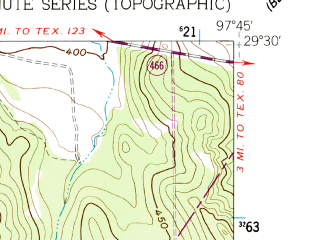 Reduced fragment of topographic map en--usgs--024k--012158--(1962)--N029-30-00_W097-52-30--N029-22-30_W097-45-00