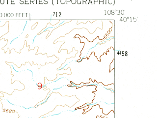 Reduced fragment of topographic map en--usgs--024k--012348--(1962)--N040-15-00_W108-37-30--N040-07-30_W108-30-00