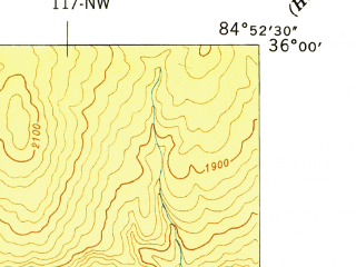 Reduced fragment of topographic map en--usgs--024k--012598--(1949)--N036-00-00_W085-00-00--N035-52-30_W084-52-30; towns and cities Crab Orchard