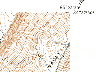 Reduced fragment of topographic map en--usgs--024k--012652--(1947)--N034-37-30_W085-30-00--N034-30-00_W085-22-30