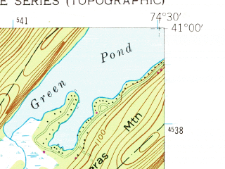 Reduced fragment of topographic map en--usgs--024k--012683--(1954)--N041-00-00_W074-37-30--N040-52-30_W074-30-00; towns and cities Dover, Rockaway, Wharton, White Meadow Lake, Victory Gardens
