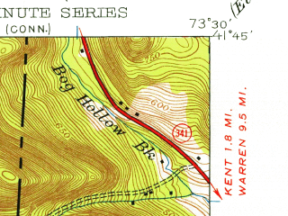 Reduced fragment of topographic map en--usgs--024k--012695--(1944)--N041-45-00_W073-37-30--N041-37-30_W073-30-00; towns and cities Dover Plains