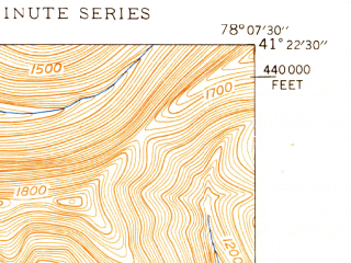 Reduced fragment of topographic map en--usgs--024k--012792--(1947)--N041-22-30_W078-15-00--N041-15-00_W078-07-30; towns and cities Driftwood