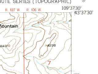 Reduced fragment of topographic map en--usgs--024k--012903--(1956)--N043-37-30_W109-45-00--N043-30-00_W109-37-30; towns and cities Dubois