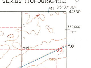 Reduced fragment of topographic map en--usgs--024k--012939--(1962)--N044-30-00_W095-45-00--N044-22-30_W095-37-30